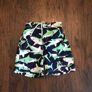 Carters Boys Green Blue Shark Shorts Size 7